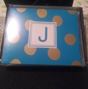 12 J Initial Notes Cards & Envelopes